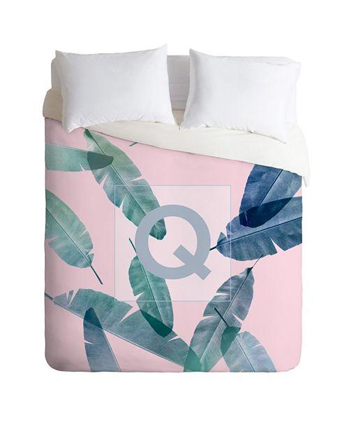 Deny Designs Iveta Abolina Peaches N Cream Q Queen Duvet Set