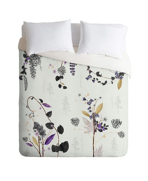 Deny Designs Iveta Abolina Woodland Dream Twin Duvet Set