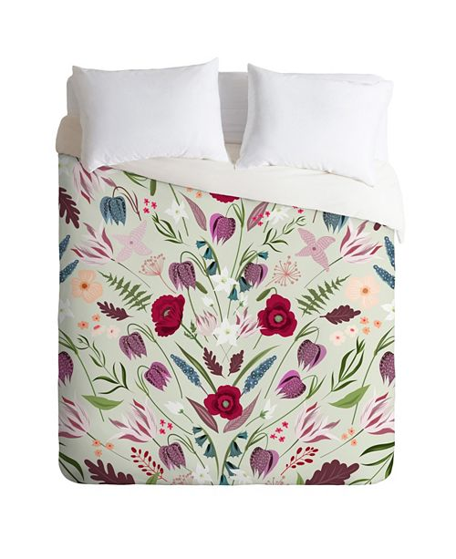 Deny Designs Iveta Abolina Poppy Meadow II Twin Duvet Set