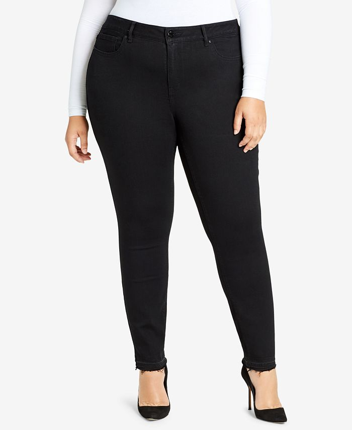 WILLIAM RAST - Trendy Plus Size High-Rise Ripped Skinny Jeans