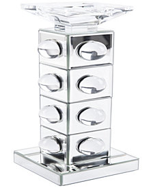 Mirrored Candle Holder Lg Mirror&Lucite
