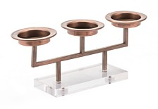 CLOSEOUT! Zuo  Lucite 3 Candle Holder