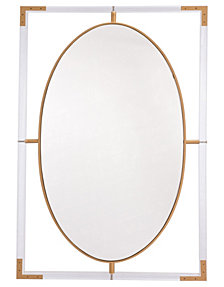 Lucite Rectangular Mirror Clear