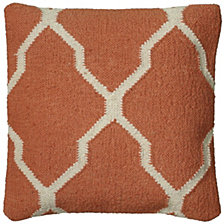 """Rizzy Home 18"""" x 18"""" Moroccan Tile Motif Poly Filled Pillow"""