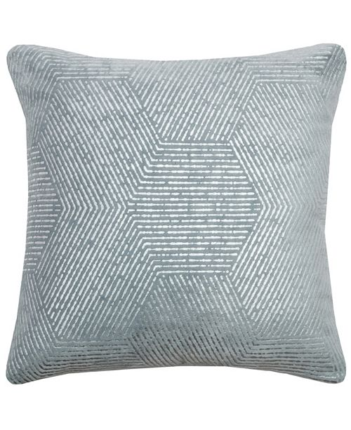 "Rizzy Home 20"" x 20"" Impressionistic Hexagon Poly Filled Pillow"