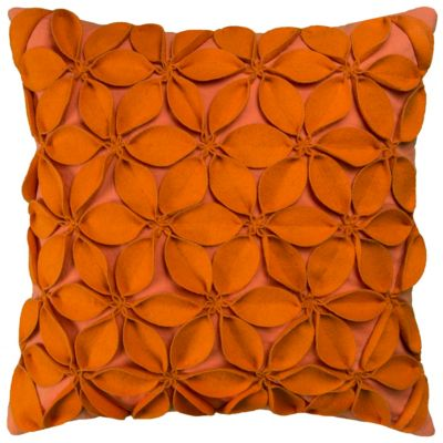 """18"""" x 18"""" Botanical Petals Poly Filled Pillow"""