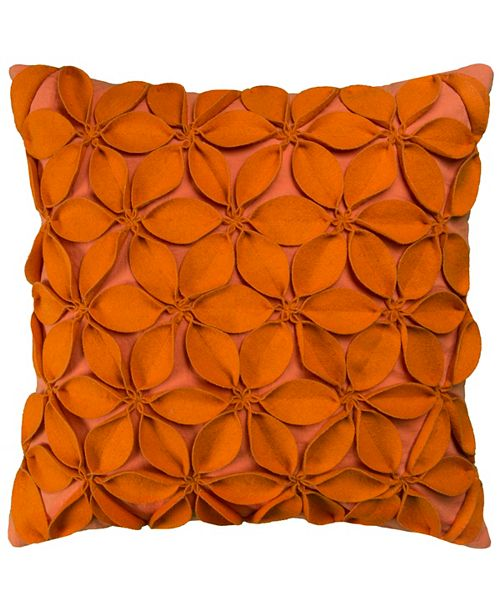 "Rizzy Home 18"" x 18"" Botanical Petals Pillow Collection"