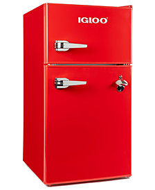 Igloo 3.2 Cu Ft Classic Double Door Red