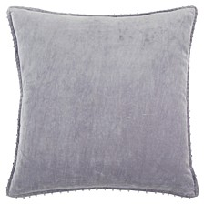 """Faux Pearl Trim Solid 22"""" x 22"""" Poly Filled Pillow"""