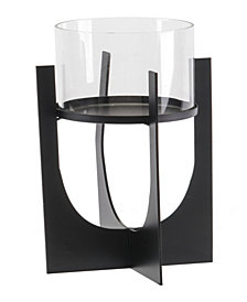 Equis Black Candle Holder Md Black