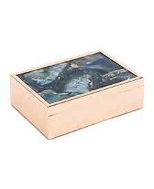 Large Blue Stone Box