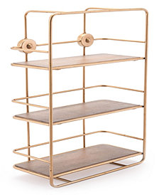 Stairs Shelf Antique Gold