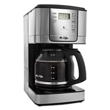 Mr. Coffee 12-Cup Programmable Coffee Maker, Stainless Steel
