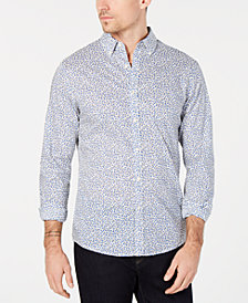Michael Kors Men's Woven Printed Shirt, Created for Macy's