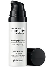 philosophy Anti-Wrinkle Miracle Worker+ Line-Correcting Eye Cream, 0.5-oz.