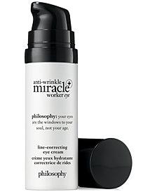 philosophy Anti-Wrinkle Miracle Worker+ Line-Correcting Eye Cream, 0.5-oz.