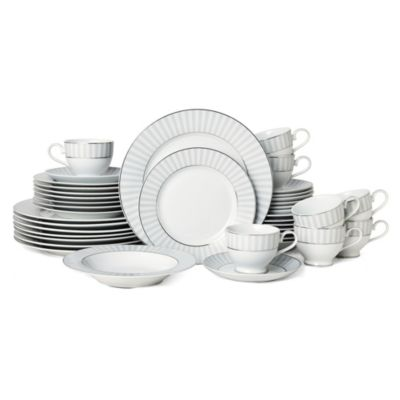 Adrian Grey 40-Pc. Dinnerware Set, Service for 8