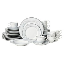 Adrian Grey 40-Pc. Dinnerware Set, Service for 8