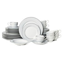 Mikasa Adrian Grey 40-Pc. Dinnerware Set, Service for 8
