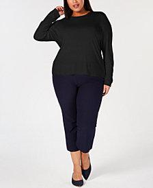 Eileen Fisher Plus Size Silk Jersey Top