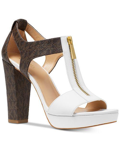f134e9c21d034 Michael Kors Berkley T-Strap Platform Dress Sandals   Reviews ...