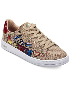 Guess Women S Mineral Sneakers & Reviews Athletic Shoes Guess Mineral Sneakers Shoes