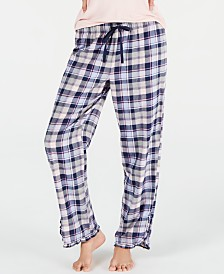 Jenni by Jennifer Moore Cotton Printed Pajama Pants, Created for Macy's