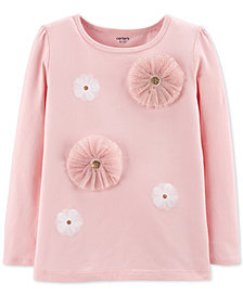 Carter's Little & Big Girls Rosette Top