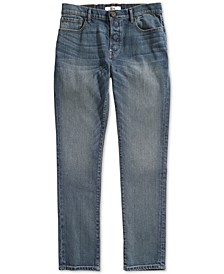 Men's Straight Fit Jeans with Magnetic Fly