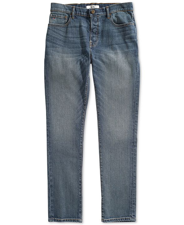 Tommy Hilfiger Men's Straight Fit Jeans with Magnetic Fly
