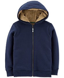 Carter's Little & Big Girls or Boys Velboa-Lined Hoodie