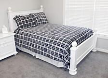 Classic Plaid Fleece 3 Piece Full/Queen Comforter Set