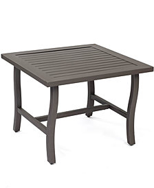 "CLOSEOUT! Aluminum 24"" Square Outdoor End Table, Created for Macy's"