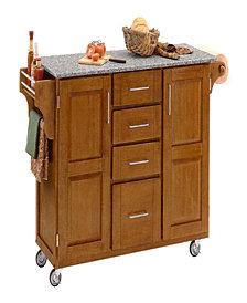 Home Styles Create-a-Cart Warm Oak Finish Salt and Pepper Granite Top