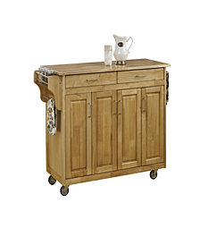 Home Styles Create-a-Cart Natural Finish with Wood Top