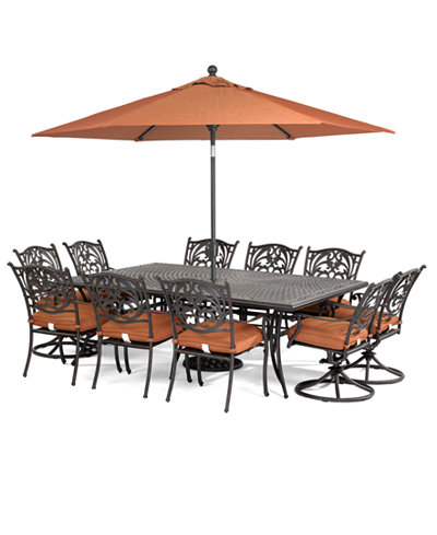 Chateau Outdoor Cast Aluminum 11-Pc. Dining Set (84