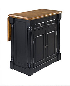 Home Styles Monarch Island Black and Distressed Oak Finish