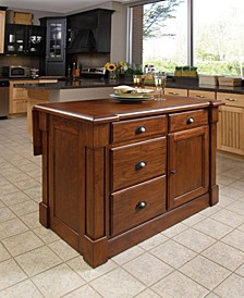 Aspen Rustic Cherry Kitchen Island