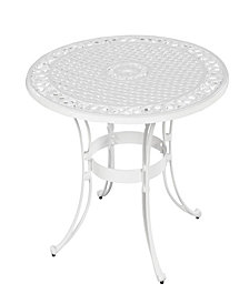 "Home Styles Biscayne 48"" Round Dining Table White Finish"