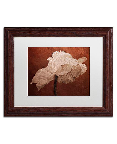 """Trademark Global Cora Niele 'White Poppy' Matted Framed Art, 11"""" x 14"""""""