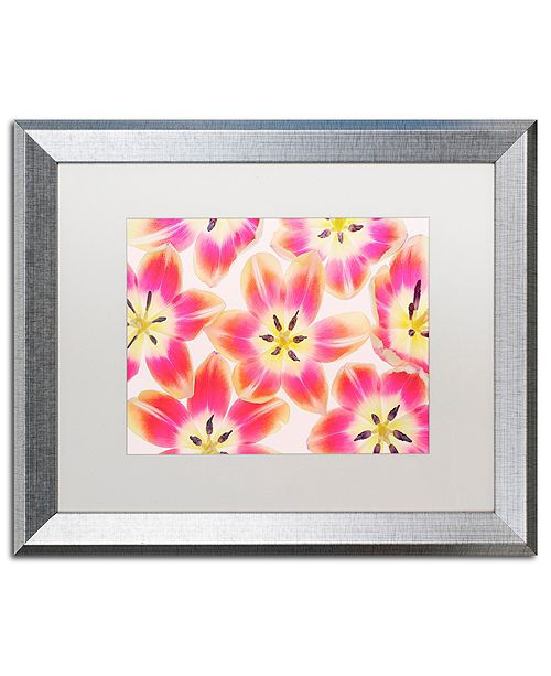 "Trademark Global Cora Niele 'Yellow and Red Tulips' Matted Framed Art, 16"" x 20"""