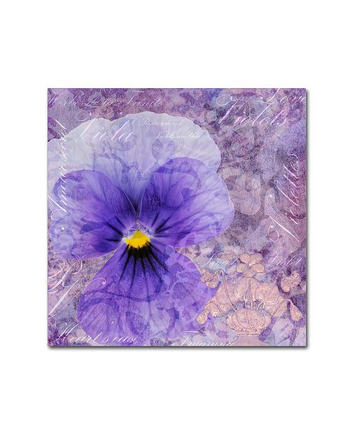 "Trademark Global Cora Niele 'Viola - Secret Love' Canvas Art, 18"" x 18"""