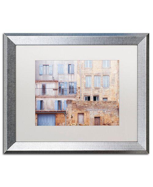 "Trademark Global Cora Niele 'Facade I' Matted Framed Art, 16"" x 20"""