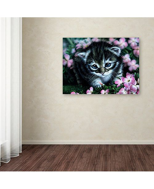 "Trademark Global Jenny Newland 'Bright Eyes' Canvas Art, 35"" x 47"""