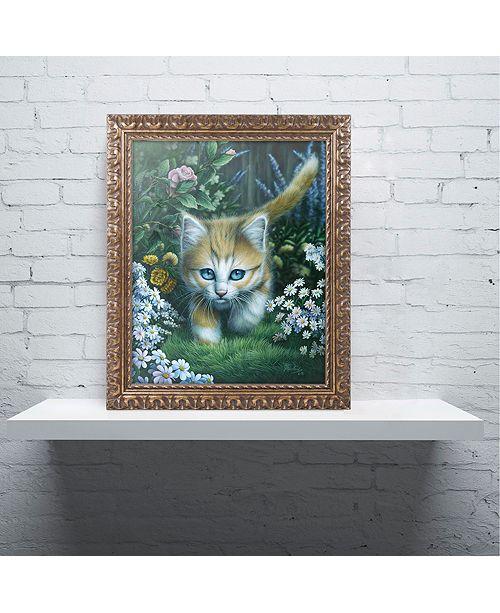 "Trademark Global Jenny Newland 'Buttercup 2' Ornate Framed Art, 16"" x 20"""