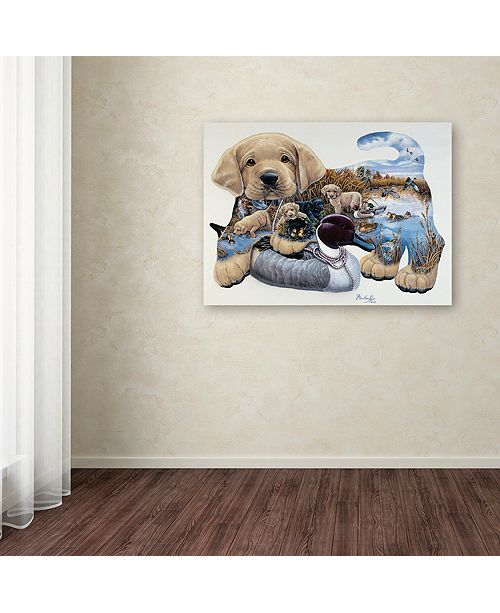 "Trademark Global Jenny Newland 'Sweet Puppy Tales' Canvas Art, 35"" x 47"""