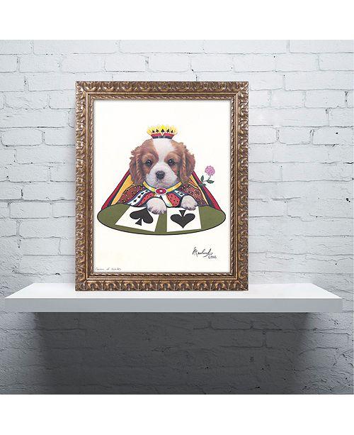 "Trademark Global Jenny Newland 'Queen Of Spades' Ornate Framed Art, 16"" x 20"""