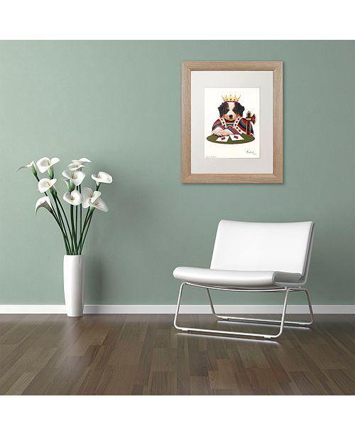 "Trademark Global Jenny Newland 'King Of Diamonds' Matted Framed Art, 11"" x 14"""