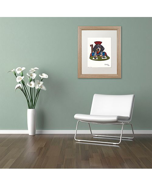 "Trademark Global Jenny Newland 'Jack Of Clubs' Matted Framed Art, 16"" x 20"""