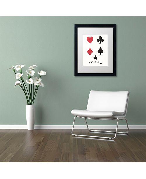 "Trademark Global Jenny Newland 'Joker' Matted Framed Art, 16"" x 20"""